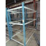 "Blue & White Warehouse Rack, 49"" x 97"" x 87"" Tall"