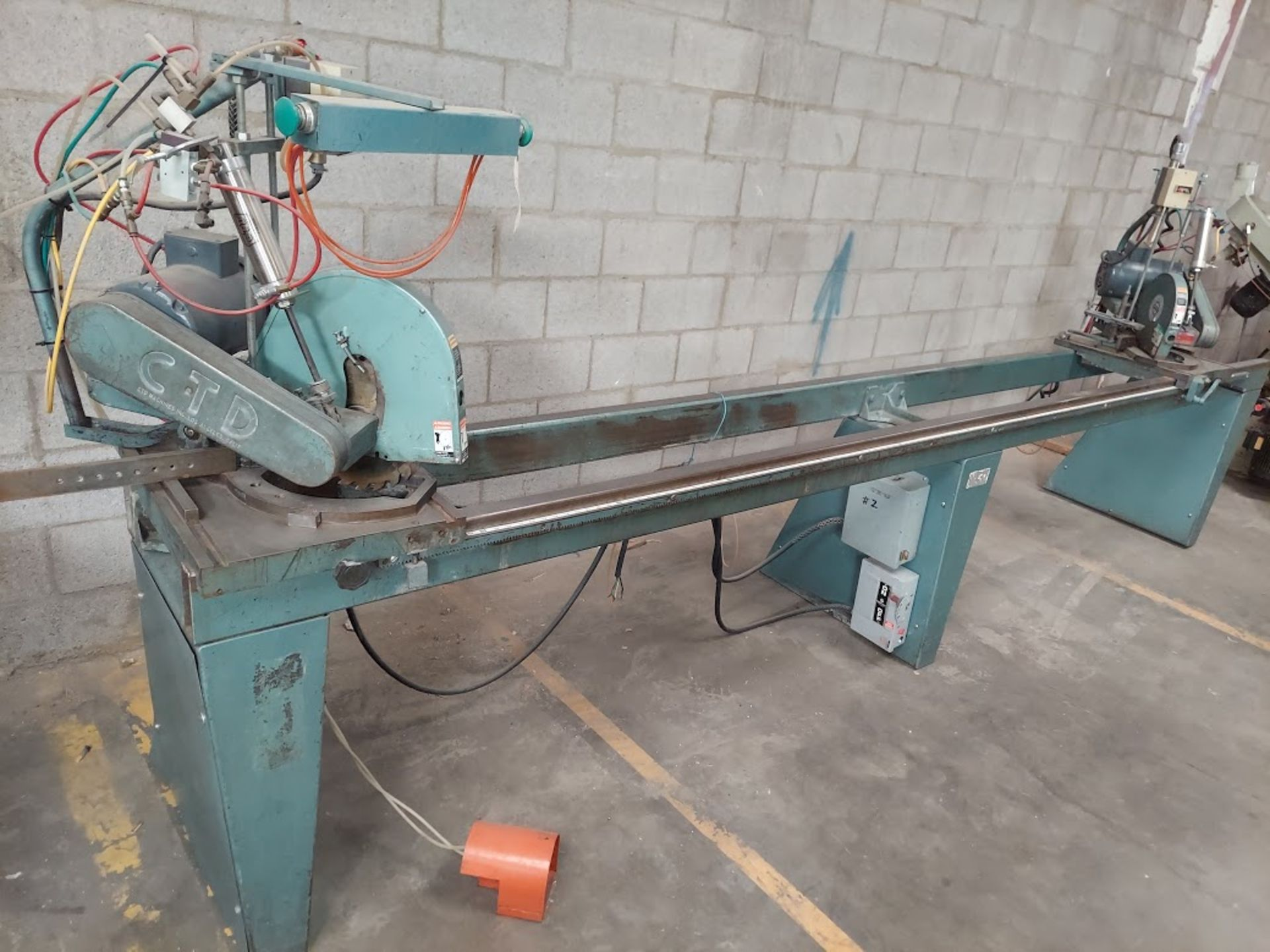 "CTD 12"" Double End Trim & Miter Saw, Model #DM200, 2 - Baldor 2 HP 230/460 Volts 3 Phase"