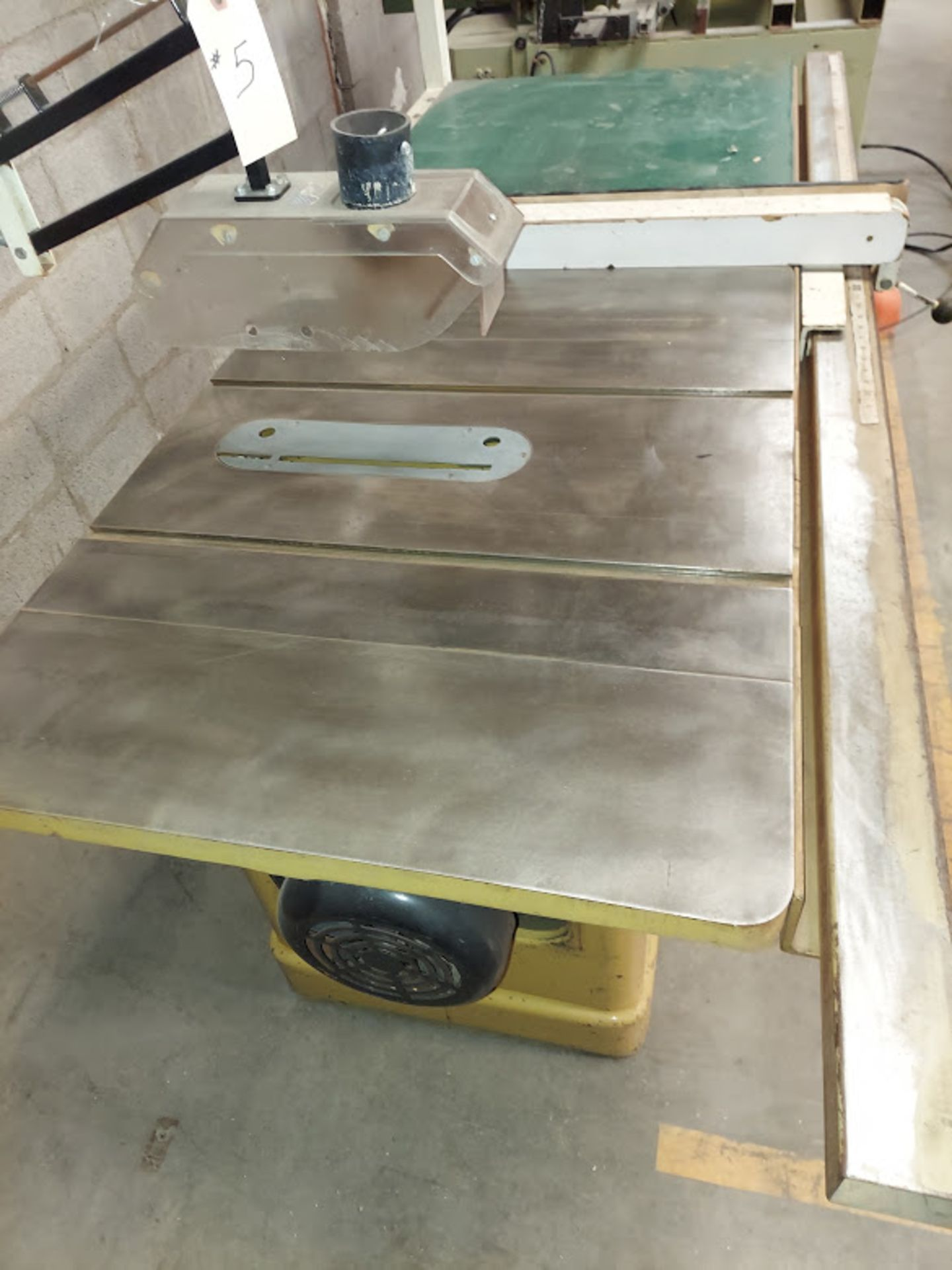 """Powermatic 10"""" Table Saw, Model #66 53"""" Rails & Fence, Baldor 5HP 230 Volts 3 Phase Motor, - Image 3 of 5"""