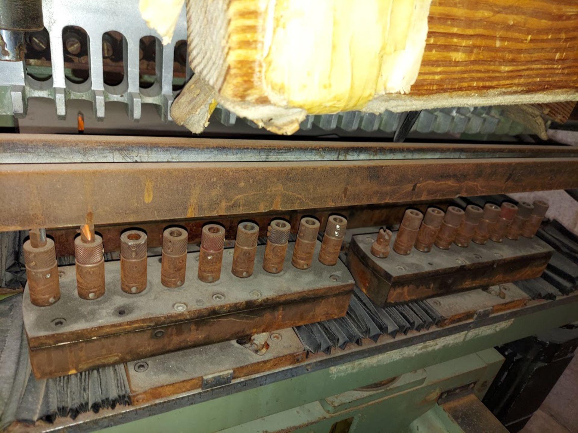Zangheri & Boschetti Mulit Mat P3 Line Boring Machine, Model #MP3, 1 - 21 Spindle Horizontal Drill - Image 3 of 7
