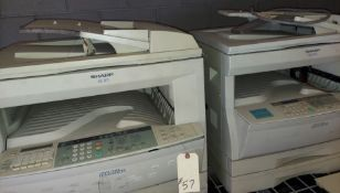 2 - Sharp Copiers, Model #AR-201 & AR-205, 115 Volt