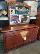Mapa Burl 6 Drawer Dresser with Mirror