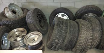Lot of Misc Tires & Rims