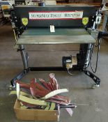 "Super Max Brush 36"" Sander, Model #SB 36 (3ph), 5 Hp 3 ph 230-460 Volt, Extra Sandpaper & on wheels"