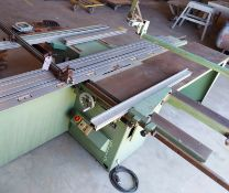 "Ulmia 12"" sliding table saw Model #1729 1ph motor"