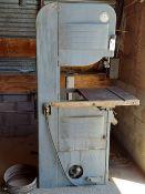 "Cresent 20"" wood cutting bandsaw 1hp 110/220 volt 1ph motor, w/ extra blades"