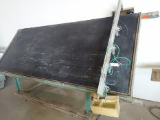 Ritter face frame table 5'x12' 4- pnuematic hold down clamps