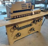 Crouch profile sander 2 heads, Baldor 7.5hp 230/460 volt 3ph motor