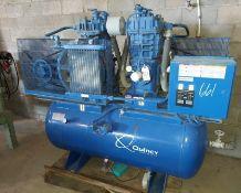 Quincy air compressor Model # QR350DT00124 2-Baldor 10hp 230/460 volt 3ph motor