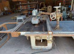"Delta Milwakee 12/14"" table saw w/ power feeder, Biesmeyer fence & 52"" rails 5hp 220/440 volt 3ph"
