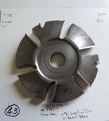 """Shaper Cutters, Cherokee Tool Co, No. 1782 . T . Raised Panel Cutters (C/W Rotation), 2-5/8"""" Length"""