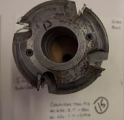 """Shaper Cutters, Cherokee Tool Co - (2) No. 620 . 1 . T, 7/8"""" Stile (Stick) Cutters and 3/4"""" Cente"""