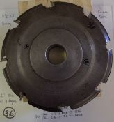 "Shaper Cutters, Cherokee Tool Co, (2) No. 620 . 2 . DE . T 7/8"" Rail (Cope) and 1/4""Center Cutter"