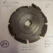 "Shaper Cutters, Cherokee Tool Co, No. 651 . 1 T, 11-1/2"" Major Diameter - 9-3/4"" Minor Diameter,"