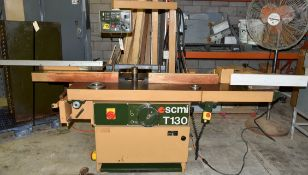 "SCMI T-130 Shaper, 97"" Table, 50mm Arbor, Pedestal Controls, Tennoning Table, 12 hp (9kw) 3 PH 230"