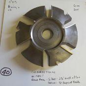 "Shaper Cutters, Cherokee Tool Co, No. 1782 . 1 . T Raised Panel, 2-1/2"" Length of Cut, 1/2"" Deep P"