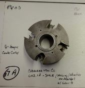 """Shaper Cutters, Cherokee Tool Co - (2) No. 620 . 1 . A . M , 7/8"""" Stile (Stick) Cutters and 1/4"""" Ce"""