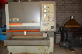 """DMC 52"""" 3-Head Wide Belt Sander, Finish Sander, Relatively Small Motors - Does not Require as many A"""