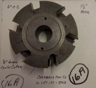 """Shaper Cutters, Cherokee Tool Co - (2) No. 647 . 1 . M . T, 7/8"""" Stile (Stick) Cutters and 1/4"""" Ce"""