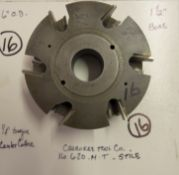 """Shaper Cutters, Cherokee Tool Co - (2) No. 620 . 1 . M . T, 7/8"""" Stile (Stick) Cutters and 1/4"""" C"""