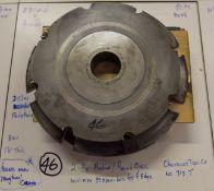 "Shaper Cutters, Cherokee Tool Co, No. 713 . T, (2) 3/8"" Radius / Roundover, Modified 3 Degrees O"