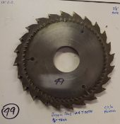 """Hogging Head, 24 Tooth, 3/4"""" Thick, 12 Outside Diameter, 3-1/8"""" Bore, Good Condition, /DSC3113-14"""
