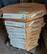 """Canplast Top Edge 10 boxes total, 8 Boxes of 15/16"""" x 3mm Black & 2 Boxes of 1-5/16"""" x 3mm Black"""