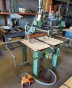 Ayen 21 Spindle Line Boring Machine, Model #LRB32-21, 230 volt 3ph, Pneumatic foot pedal