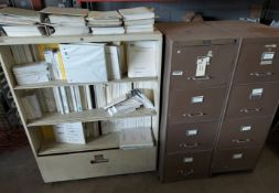 3 - Filing Cabinets full of GE Fanuc Automation Manuals, circuit board, & a lot more