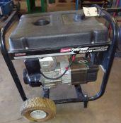 Coleman Powermate 6875 Portable Generator, Model #PM0525500.01, on wheels