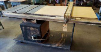 "Sears /Craftsman 10 "" Table Saw, 2HP 115/230 volt, Biesemeyer 52"" Rails & Fence System"