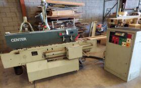 "SCMI Center Machine, Model #Center, Shaper Spindle & 2-1/2"" x 99"" Sanding Belt Station, 230 volt 3ph"