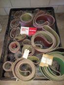 """Pallet of Misc. Sanding Belts, 6"""" x 258"""" 50 Grit Zirconia Belts, 6"""" x 258"""" 100 Grit A/o Belts, 4"""""""