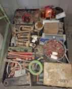 Pallet of Truck Parts, Lights, Oil Filter, Springs, Cyclinders, & Lot More