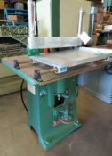 """Northfield 1"""" Wood Shaper with Sliding Coping Table, Model #551110-D, 2 Hp 220/440 Volt Motor"""