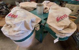 Grizzly 8 Bag Dust Collector, Model #0508, 10 Hp 220 Volt 3ph Motor