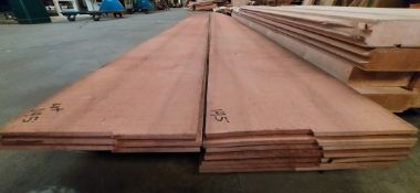 """14 Pieces of 1/4"""" x 12"""" Western Red Cedar 8' to 9' Lengths"""