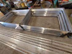 Aluminum Tracks with 4 Aluminum Carts on Wheels
