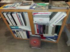 Cabinet with Woodworking Machinery Catalogs, Binders, & Brochures