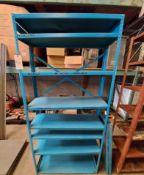 "Steel Storage Shelving (Rack), 36"" x 12"" x 75"" Tall, 10 - Shelves"