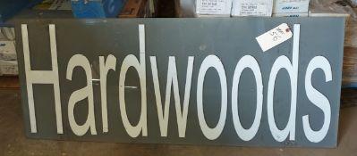 "Hardwoods Sign, 20"" x 48"""