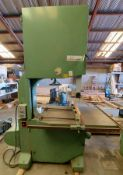 "Centauro Classico 34"" Vertical Wood Cutting Bandsaw, Model #900 CL, 7.5 Hp 230/460 Volt 3ph Motor"