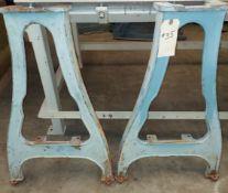 "2 - Delta Rockwell Antique Cast Iron Wood Lathe Legs, 30"" Tall"