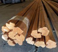 2 - Bundles of Knotty Pine Molding 16' Lengths, & 1 - Bundle of Clear Pine Molding 14' Lengths