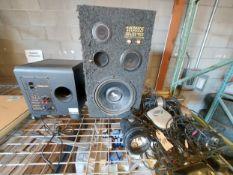 "Klipsch KSW10 Speaker, Rockford Fosgate 12"" Speaker, Lights & Misc. Wires"
