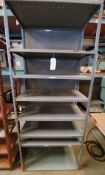 "Industrial Metal Shelving (Rack), 36"" x 18"" x 87"" Tall, 8 - Shelves"