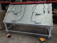Unique Machine Door Clamping Table 4' x 8', Model #280, 8-Pneumatic Clamps