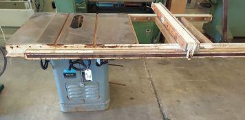"Rockwell 10"" Unisaw, Model #34-771, Biesemeyer Fence & 50"" Rail, 230/460 Volt 3ph Motor"