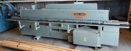 Holz-Her Edge Bander, Model # 1408, Glue Pot, Top & Bottom Trim Motors, Scrapers & Buffing Stations,