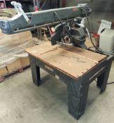 "DeWalt 16"" Radial Arm Saw, Model #3556, 5 Hp 230 Volt 1ph Motor"